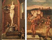 BELLINI, Giovanni Four Allegories: Prudence and Falsehood china oil painting reproduction